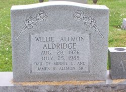 Willie <i>Allman</i> Aldridge