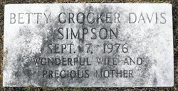 Betty <i>Crocker</i> Davis Simpson