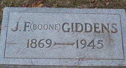 John Forney Boone Giddens