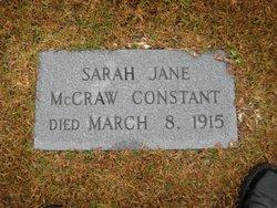 Sarah Jane Ann <i>McCraw</i> Constant