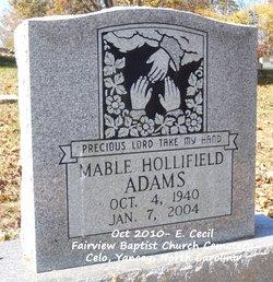 Mable <i>Hollifield</i> Adams