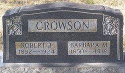 Barbara M <i>Baker</i> Crowson