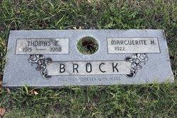 Thomas E Brock