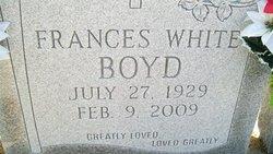 Frances <i>White Rudicill</i> Boyd