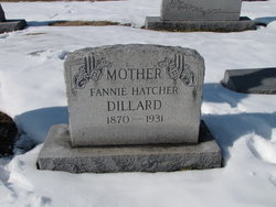 Frances Catherine Fannie <i>Hatcher</i> Dillard