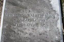 Benjamin Walker Adams