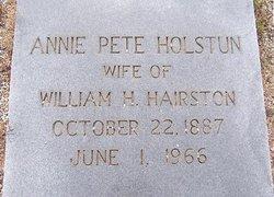 Annie Petromia Pete <i>Holstun</i> Hairston