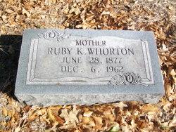 Ruby Clara <i>Kilpatrick</i> Whorton