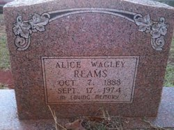 Alice <i>Wagley</i> Reams