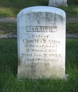 Lizzie M. <i>Hill</i> Allen