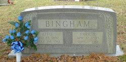 Effie <i>Slusher</i> Bingham