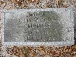 Julia W <i>Jones</i> Crumbley