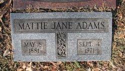 Mattie Jane <i>McCarty</i> Adams