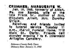 Marguerite W. <i>Rambo</i> Crummer