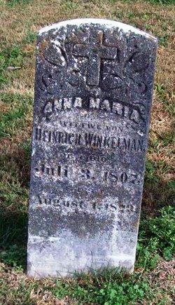 Anna Maria <i>Huecker</i> Winkelmann