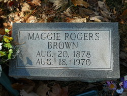 Mary Magdaline Maggie <i>Rogers</i> Brown