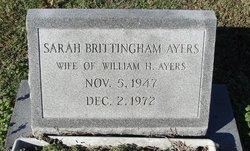 Sarah <i>Brittingham</i> Ayers
