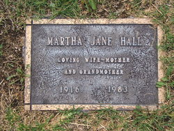 Martha Jane <i>Burch</i> Hall