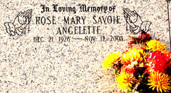 Rose Mary <i>Savoie</i> Angelette