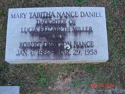 Mary Tabitha <i>Nance</i> Daniel