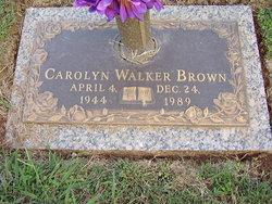 Carolyn <i>Walker</i> Brown