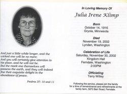 Julia Irene Julia <i>Brevik</i> Klimp
