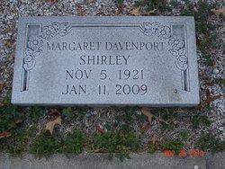 MARGARET DAVENPORT SHIRLEY
