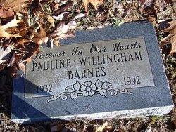 Pauline <i>Willingham</i> Barnes