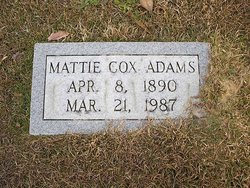Mattie <i>Cox</i> Adams