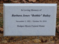 Barbara Bobbie <i>Jones</i> Bailey