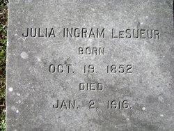 Julia F. <i>Ingram</i> LeSueur