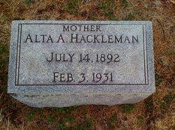 Alta A. <i>Stroud</i> Hackleman