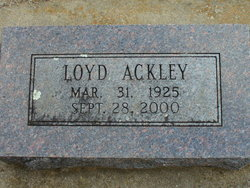 Loyd Arthur Ackley