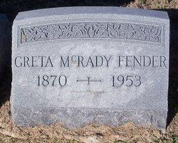 Greta <i>McRady</i> Fender