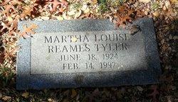 Martha Louise <i>Reames</i> Tyler