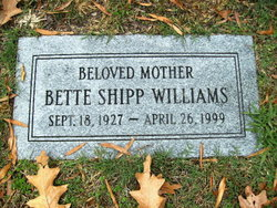 Bette <i>Shipp</i> Williams