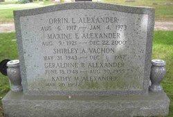 Maxine E. <i>Cheney</i> Alexander