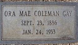 Ora Mae <i>Coleman</i> Gay
