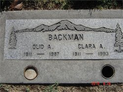 Clara Alice <i>Spry</i> Backman
