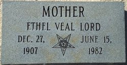 Ethel Lena <i>Burch</i> Veal Lord