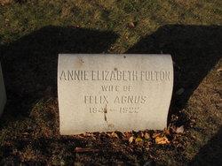 Annie Elizabeth <i>Fulton</i> Agnus