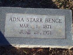 Adna <i>Starr</i> Benge