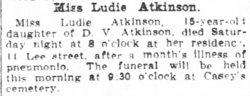 Ludie Atkinson