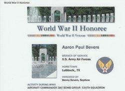 Aaron Paul Bevers