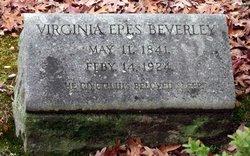 Virginia <i>Epes</i> Beverley