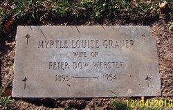Myrtle Louise <i>Graner</i> Webster