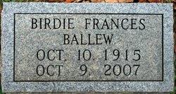 Birdie Frances <i>Davis</i> Ballew