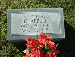 Mary Elsie <i>Whitwell</i> Chappell