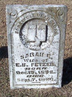 Sarah Elizabeth <i>Martin</i> Fetzer