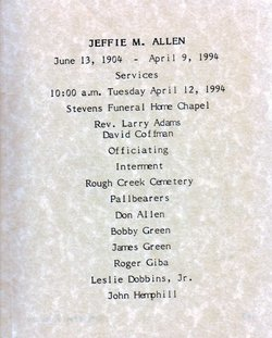 Jeffie Modeane <i>Ham</i> Allen